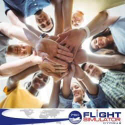 Flight Simulator Cyprus Employees Bonding Activities